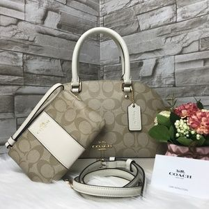 👜COACH SET🌺 MINI SIERRA SATCHEL&WALLET
